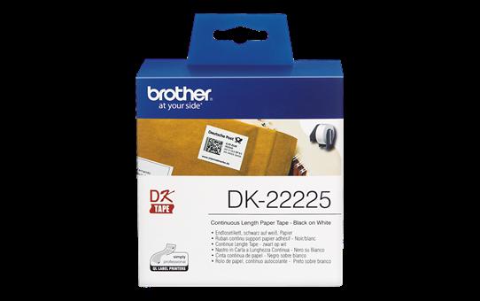 Cinta continua papel termico 38mmx30metros Brother DK22225