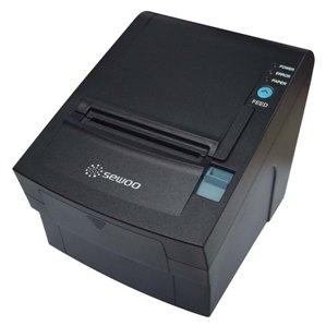 Impresoras de tickets y códigos de barras térmica SEWOO LK-TL202. Serie + USB, Negra.