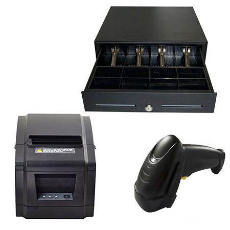 Pack TPV (Impresora de tickets ITP-71 II, cajón portamonedas, lector código de barras MS-3)