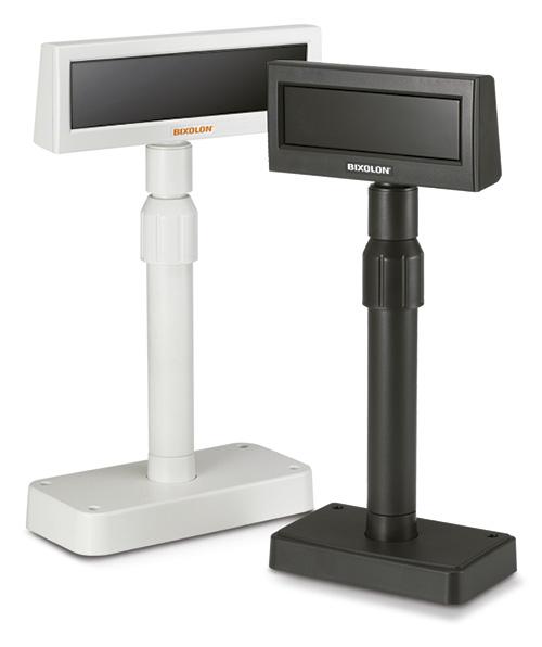 Visor TPV de cliente, BIXOLON BIX BCD-1000. Conexión serie o USB, color blanco o negro